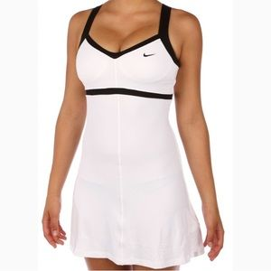 Nike | Black and White Dri Fit Tennis Court Dress